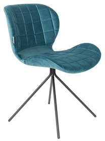 Kolor: petrol Materiał: 100% tkaniny poliestrowej aksamitnej, 30.000 Martindale  Wymiary: 51x56x80 cm Wysokość siedzenia: 47 cm Głębokość siedzenia:...