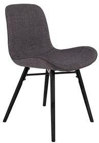 Krzesło LESTER antracytowe  Materiał: Tkanina: 100% poliester z przeszyciami zygzakowymi Nogi: z drewna bukowego, lakierowane na czarno  Wymiary:...