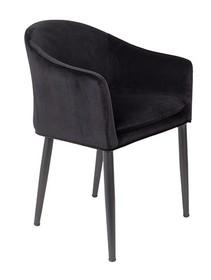 Fotel CATELYN czarny  Cechy: Poduszka siedziska ze zdejmowaną poszewką. Czarne stalowe nogi malowane proszkowo.  Materiał: 100% tkaniny poliestrowej...