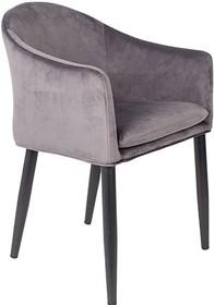 Fotel CATELYN szary  Cechy: Poduszka siedziska ze zdejmowaną poszewką. Czarne stalowe nogi malowane proszkowo.  Materiał: 100% tkaniny poliestrowej...