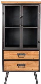Gablota Damian niska wykonana została przede wszystkim drewna jodłowego. Korpus i uchwyty z żeliwa malowanego na szaro, natomiast drzwi z szkła...