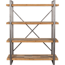 Półka posiada listwy z litego drewna jodłowego na bazie MDF ze wzmocnionym rdzeniem, z wykończeniem w kilku kolorach. Rama ze stali lakierowanej...