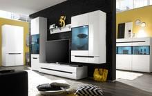 Hektor WM 11 - Meblościanka  HEKTOR to nowoczesny system mebli dla Klientów ceniących nietuzinkowy design. Korpusy wykonane są z wysokiej klasy płyty...