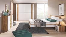 Zestaw Adita - Szafa 2-drzwiowa + Łóżko 160/200+ 2x stolik nocny  W skład zestawu wchodzą:  - szafa 2-drzwiowa - łóżko 160/200 cm - 2x stoliki...