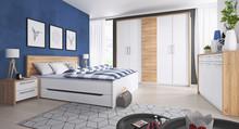 Form zestaw - Szafa 4-drzwiowa + łóżko 160/200 + 2x stolik nocny  W skład zestawu wchodzą:  - szafa 4-drzwiowa - łóżko 160/200 cm - 2x stolik...