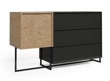 Komoda z szufladami AA060 KROOD STEEL  Zestaw nowoczesnych, minimalistycznych mebli do samodzielnego skomponowania. Mebel składa się ze stalowych...