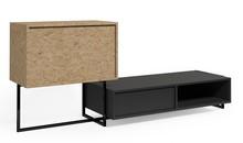 Szafka RTV AA061 KROOD STEEL  Zestaw nowoczesnych, minimalistycznych mebli do samodzielnego skomponowania. Mebel składa się ze stalowych konstrukcji,...