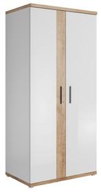 Szafa - Monor WM 18  Wymiary:  Szerokość: 95 cm Wysokość: 202 cm Głębokość: 60 cm  Wykonanie:  - płyta meblowa laminowana biały...