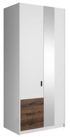 Gamma 18 - szafa 2 drzwiowa, 3 szulfady, lustro  Wymiary:  Szerokość:94 cm Wysokość: 213 cm Głębokość: 60 cm  *szafa dodatkowo występuje w...
