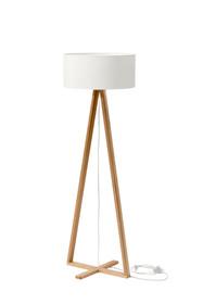 Lampa TALES z białym kloszem  Lampa stojąca z drewnianymi nogami z drewna jesionowego. Abażur wykonany w czarnym lub białym kolorze, środek biały...