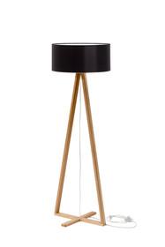 Lampa TALES z czarnym kloszem  Lampa stojąca z drewnianymi nogami z drewna jesionowego. Abażur wykonany w czarnym lub białym kolorze, środek biały...