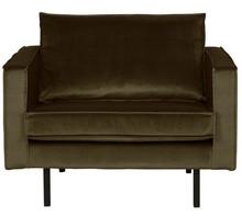 Fotel RODEO aksamitny - ciemnozielony