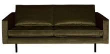 Sofa Rodeo 2,5 osobowa aksamitna ciemnozielona 156