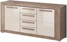 Lumi WM 26 - komoda 2 drzwiowa + 4 szuflady  System mebli do pokoju dziennego LUMI to idealne rozwiązanie dla Klientów, którzy lubią kolory ziemi....
