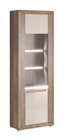 Lumi WM 06 - witryna jedno drzwiowa lewa  System mebli do pokoju dziennego LUMI to idealne rozwiązanie dla Klientów, którzy lubią kolory ziemi. System...