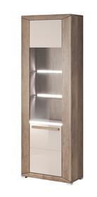 Lumi WM 05 - witryna jedno drzwiowa lewa  System mebli do pokoju dziennego LUMI to idealne rozwiązanie dla Klientów, którzy lubią kolory ziemi. System...