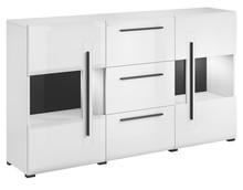 Tulsa WM 28 - komoda 2 drzwiowa (szkło) + 3 szuflady  Przytulnie czy nowocześnie? Kolekcja Tulsa dostępna jest w dwóch wybarwieniach:  nowoczesnej...