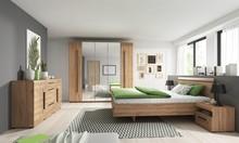 Zestaw - szafa 5 drzwiowa + łóżko 160 + 2 stoliki nocne