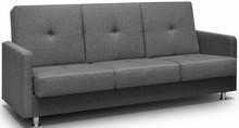 Model Salsa to kanapa pasująca do nowoczesnych wnętrz. Jest ona wyposażona w funkcję spania i pojemnik na pościel. Pikowanie w siedzisku i oparciu oraz...