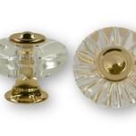 Stylizowana gałka firmy SIRO. Gałka wykonana z plastiku (efekt szkła) i metalowej podstawki w kolorze złoty połysk.  Idealna do wszelkich rozwiązań,od...