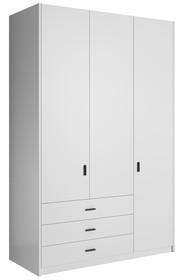 Gamma 59 - szafa, biały laminat  Wymiary:  Szerokość:138 cm Wysokość: 213 cm Głębokość: 60 cm  Wykonanie:  - płyta meblowa laminowana ...
