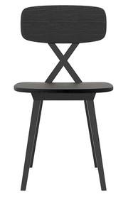 Krzesło X drewniane czarne
