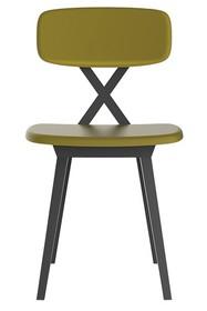Krzesło X z poduszką musztardową