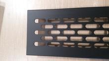 Kratka Wentylacyjna 80/480mm Aluminiowa Kolor CZARNA ANODA - Rejs