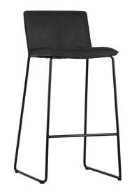 Krzesło barowe Set of 2 czarne  Kolor:  - Czarny  Wymiary:  - Wysokość: 101.5 cm - Szerokość: 45.5 cm - Głębokość: 48 cm  Materiał:  -...