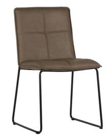 Krzesło Set of 2 brązowe  Kolor:  - Brązowy  Wymiary:  - Wysokość: 85.5 cm - Szerokość: 47.5 cm - Głębokość: 56 cm  Materiał:  -...