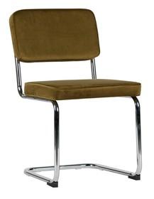 Krzesło Set of 2 aksamitne z metalową ramą zielone  Kolor:  - Zielony  Wymiary:  - Wysokość: 83.5 cm - Szerokość: 48 cm - Głębokość: 52 cm...