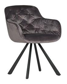 Krzesło do jadalni Elaine aksamitne antracyt  Kolor:  - Antracytowy  Wymiary:  - Wysokość: 80.5 cm - Szerokość: 59.5 cm - Głębokość: 59 cm ...