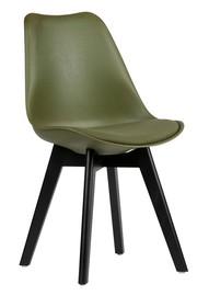 Krzesło do jadalni Set of 2 zielone  Kolor:  - Zielone  Wymiary:  - Wysokość: 82.5 cm - Szerokość: 47 cm - Głębokość: 56 cm  Materiał: ...