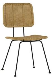Krzesło do jadalni Set of 2 Hilde naturalne  Kolor:  - Naturalny  Wymiary:  - Wysokość: 87 cm - Szerokość: 47 cm - Głębokość: 65 cm ...
