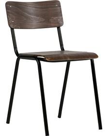 Krzesło Kees brązowe  Kolor:  - Brązowy  Wymiary:  - Wysokość: 79 cm - Szerokość: 42.5 cm - Głębokość: 51 cm  Materiał:  - Drewno