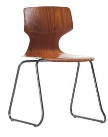 Krzesło drewniane DONNA SCHOOL - brązowe