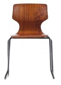 Krzesło Donna school drewniane brązowe  Kolor:  - Brązowy  Wymiary:  - Wysokość: 80 cm - Szerokość: 51 cm - Głębokość: 51.5 cm ...