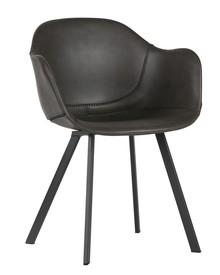 Zestaw 2 foteli Freek ciemnoszare  Kolor:  - Ciemny szary  Wymiary:  - Wysokość: 77 cm - Szerokość: 49.5 cm - Głębokość: 52 cm  Materiał:...