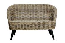 Mała sofa SARA rattanowa - naturalna