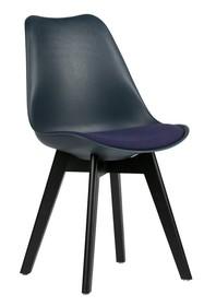 Krzesło do jadalni niebieskie - zestaw 2 sztuk