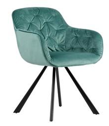 Krzesło do jadalni Elaine aksamitne ocean  Kolor:  - Ocean  Wymiary:  - Wysokość: 80.5 cm - Szerokość: 59.5 cm - Głębokość: 59 cm ...