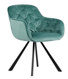 Aksamitne krzesło do jadalni ELAINE - ocean