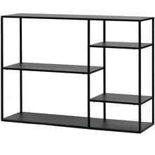 Stolik June metalowy czarny  Kolor:  - Czarny  Wymiary:  - Wysokość: 87.5 cm - Długość: 120 cm - Szerokość: 35 cm  Materiał:  - Metal