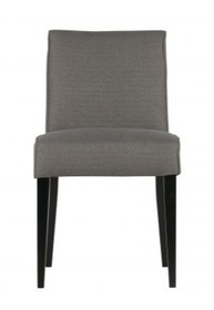 Krzesło do jadalni Roos poliestrowe szare  Kolor:  - Szary  Wymiary:  - Wysokość: 84.5 cm - Szerokość: 42 cm - Głębokość: 56.5 cm ...