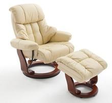 Fotel CALGARY krem, stelaż kolor orzech+hoker