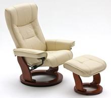 Fotel telewizyjny HAMILTON - kremowy/miodowy