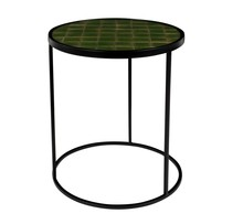 Stolik GLAZED zielony  Stolik pokryty jest płytkami ceramicznymi, które są bardzo wytrzymałe i łatwe do czyszczenia. Stolik dostępny jest w...