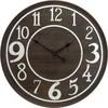 Zegar ścienny 80 cm ciemny brąz