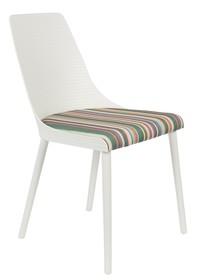 Kolor: biały  Materiał:  -polipropylen -tkanina  Wymiary:  Szerokość: 55 cm Głębokość: 47 cm Wysokość: 85,5 cm Wysokość siedzenia: 47.5 cm...