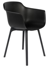 Kolor: ciemnoszary Materiał: polipropylen Wymiary: 52x57,5x80,5 cm Wysokość podłokietników: 69 cm Wysokość siedzenia: 45,50 Głębokość siedzenia:...